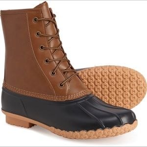 🆕 KHOMBU Waterproof Duck Boots Men's Size 10 M